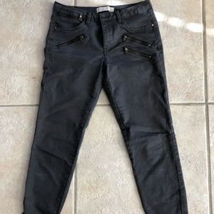 Zara dark grey Moto Jeans